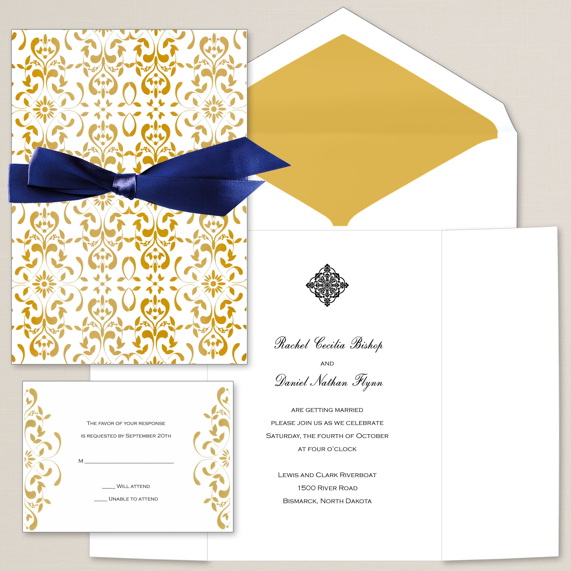 Exclusively Weddings Filigree Elegance Invitation