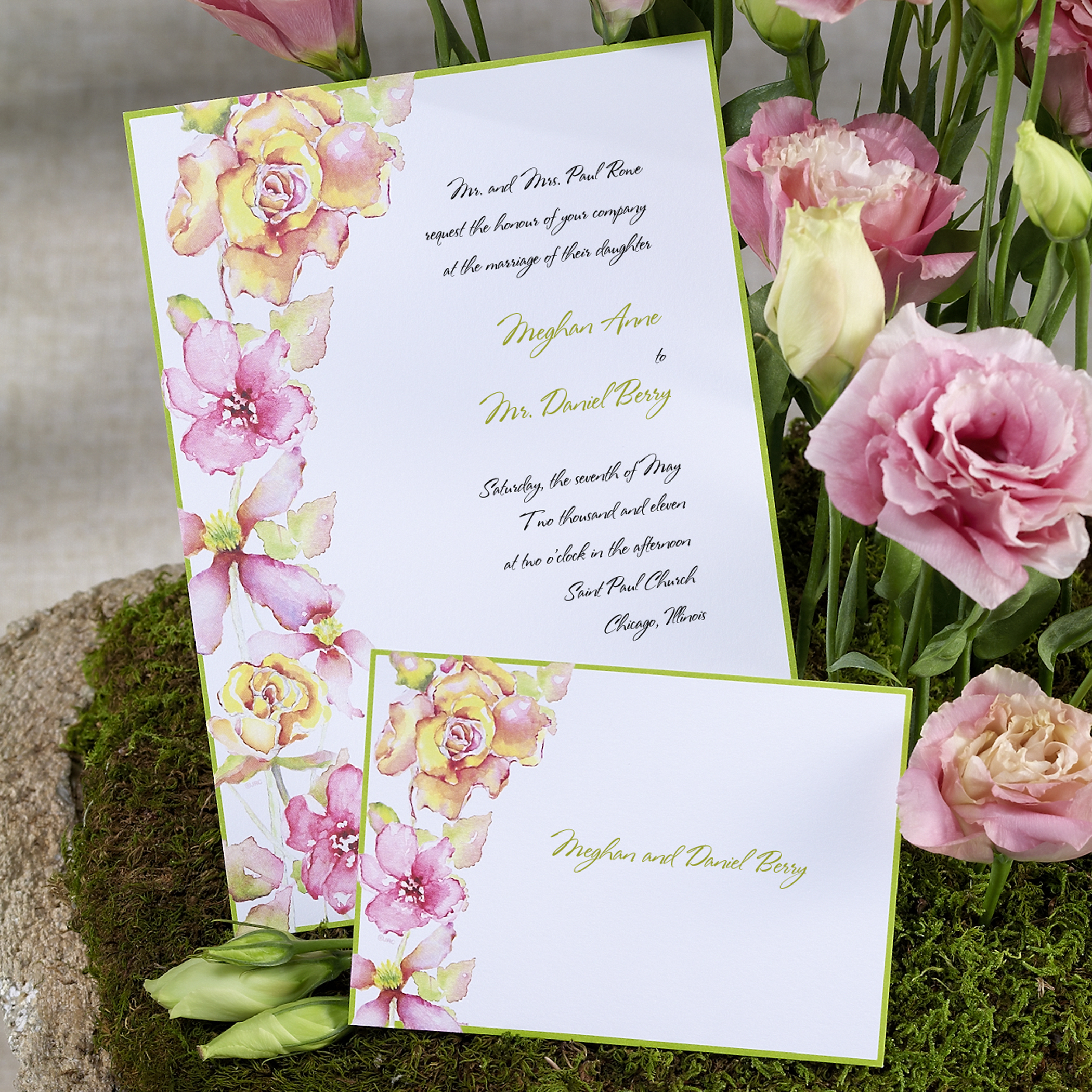 Outdoor Themed Wedding Invitations: Green Wedding Invitations Oklahoma Elegant Vintage Outdoor