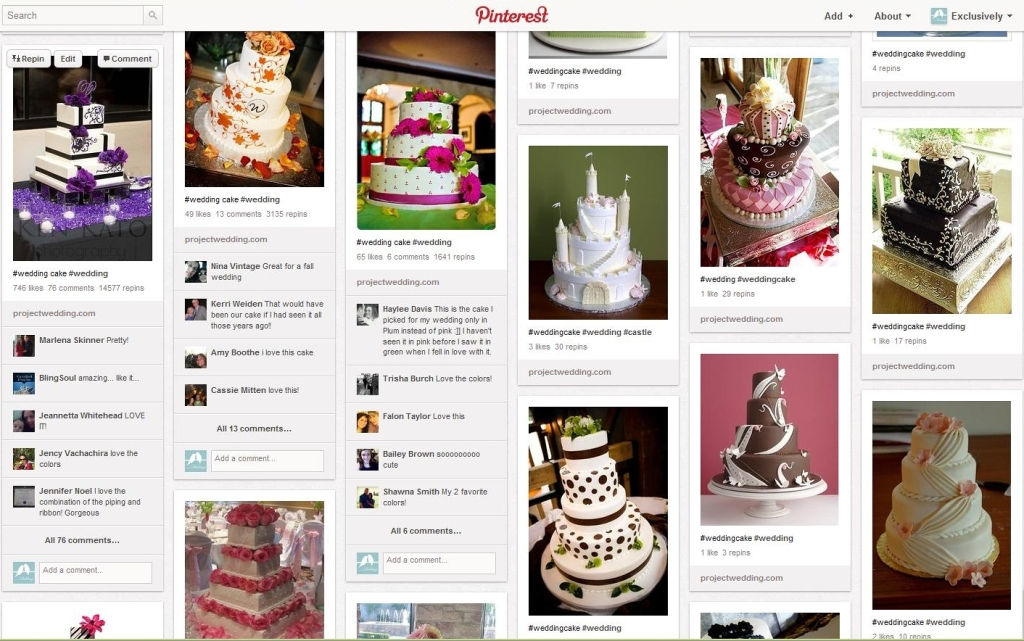 Purple/Black Cake on Pinterest