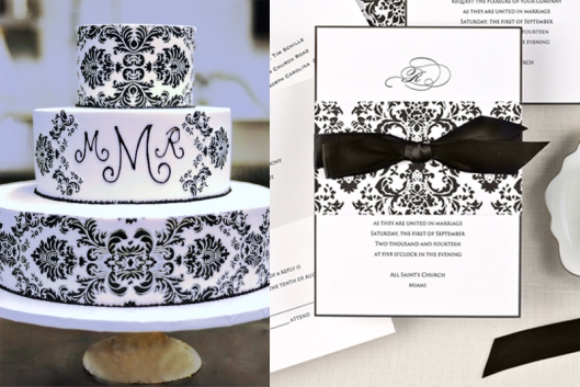 Delightfully Damask and Coordinating Cake
