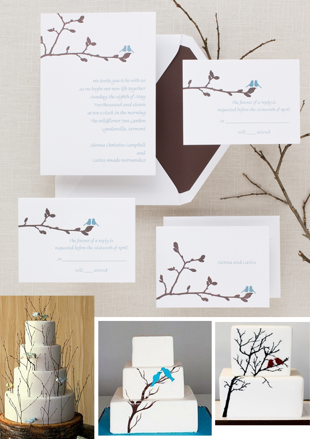 Phoebe Invitation with Coordinating Cakes