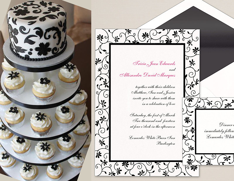 An Unexpected Match: Your Wedding Invitation and Your Wedding Cake ...
