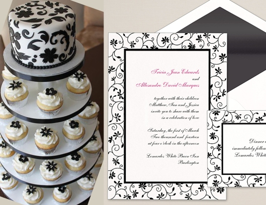 Garden Party Invitation and Coordinating Cake