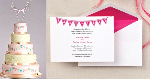 Celebrate Invitation and Coordinating Cake