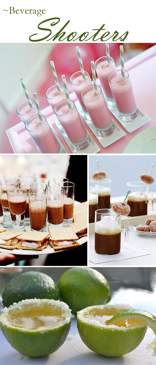 A Variety of Beverages in Shooteres