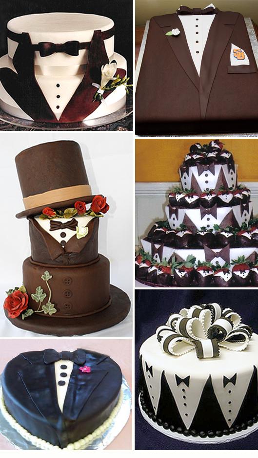 Tuxedo Design Groom's Cakes