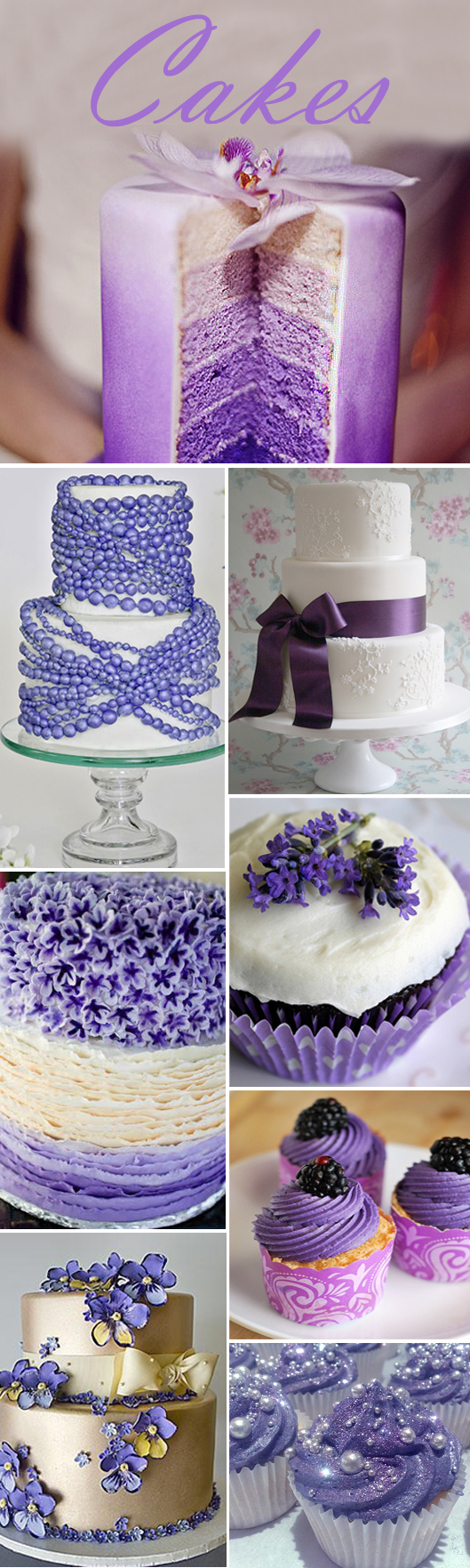 Purple Cake Collage