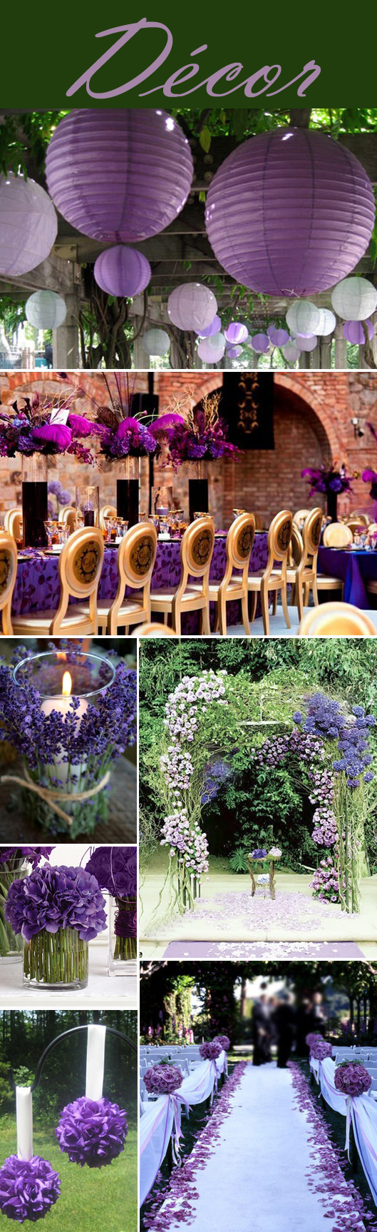 Purple Decor Collage