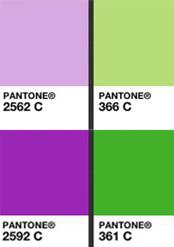 Pantone Purple and Green