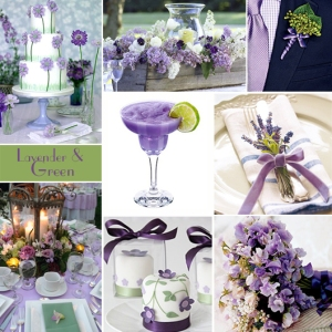 Click to Enlarge - Lavender and Green Color Story