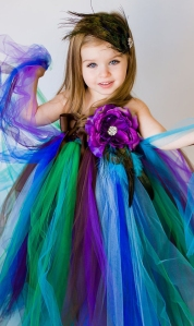 Peacock Flower Girl
