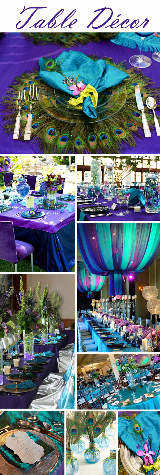 Peacock Tablescapes