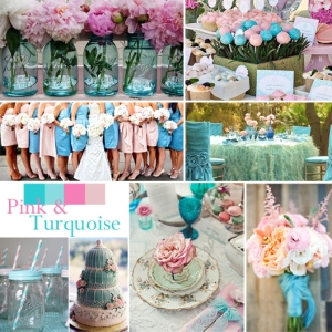 Click to Enlarge - Pink and Turquoise Color Story