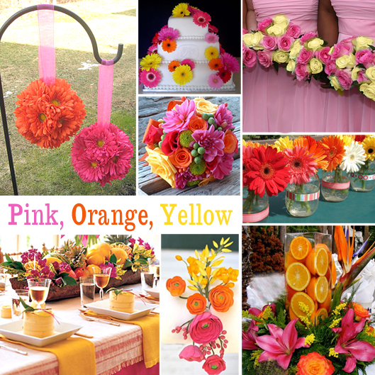 Wedding decoration ideas pink and orange : Green orange and yellow are vibrant sunny colors for spring