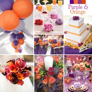 Click to Enlarge - Purple and Orange Color Story