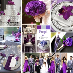 Click to Enlarge - Purple and Silver Color Story