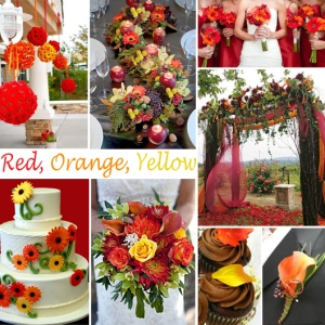 Click to Enlarge - Red, Orange, Yellow Color Story