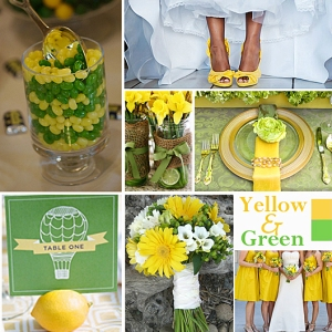 Click to Enlarge - Yellow and Green Color Story