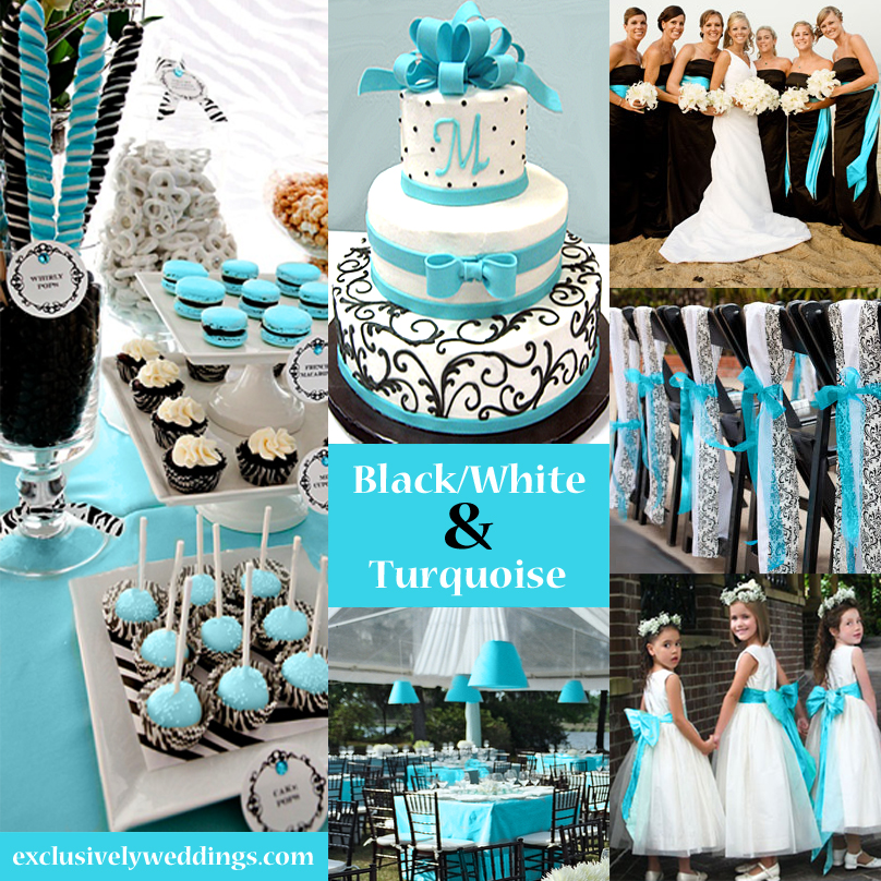 Your wedding color story part 2 exclusively weddings blog black white and turquoise wedding junglespirit Image collections