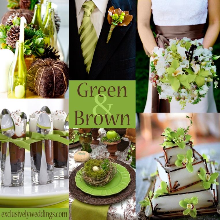 Green and brown wedding colors exclusively weddings blog share this junglespirit Image collections
