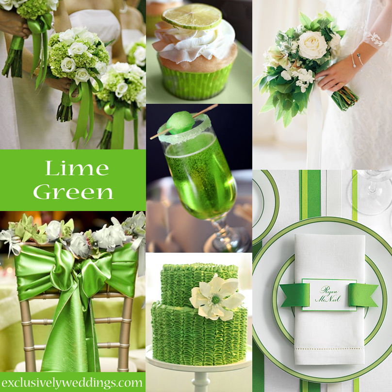 Your wedding color story part 2 exclusively weddings - Color schemes with lime green ...