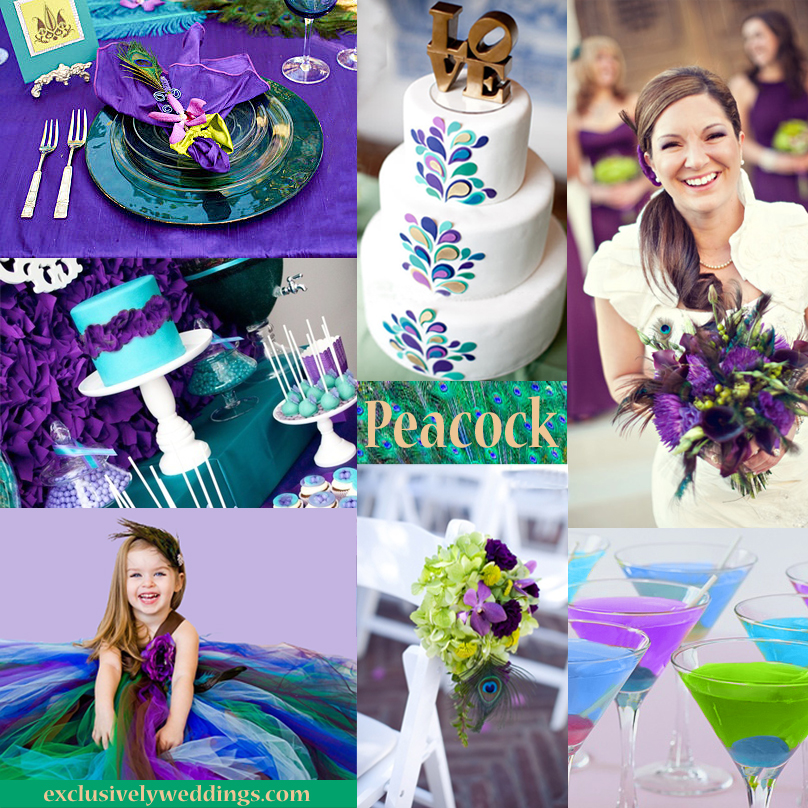 Shades Of Purple Wedding Color And Turquoise Colors Blue Peacock For