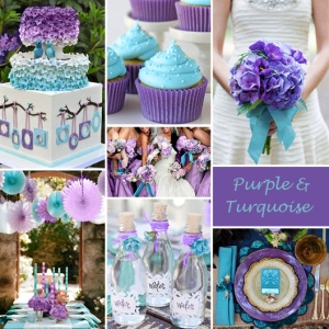 Click to Enlarge - Purple and Turquoise