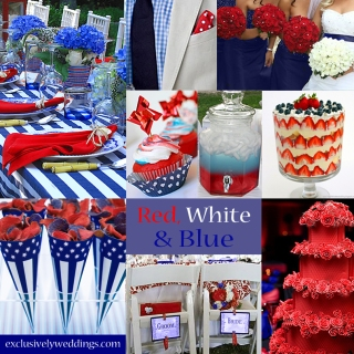 Red-white-and-blue wedding