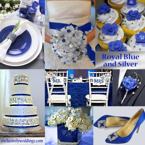 Royal Blue and Silver Wedding