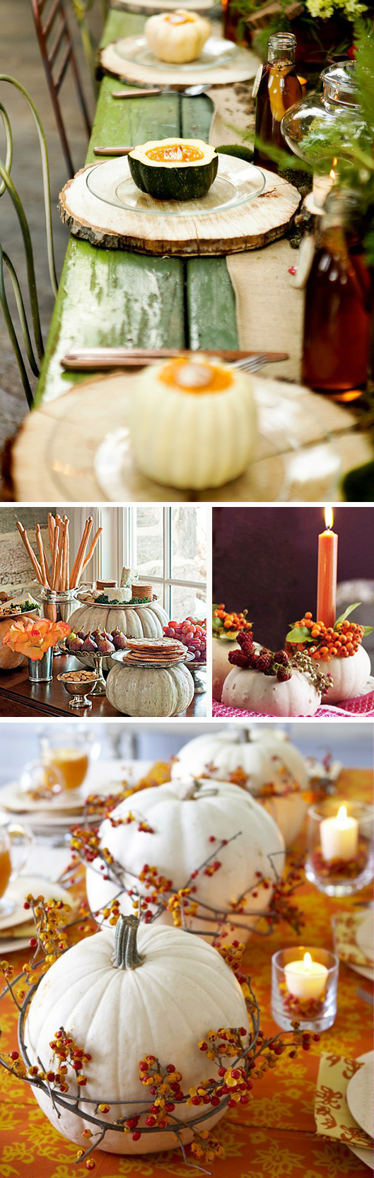 White pumpkins for fall wedding d cor exclusively for Autumn wedding decoration ideas