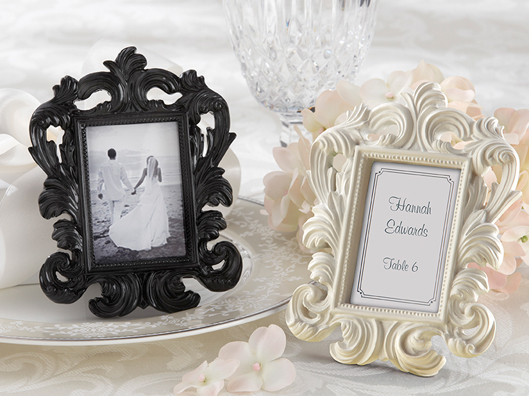 baroque wedding place card holder
