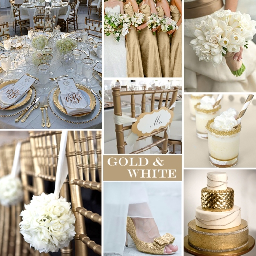 Gold and White Wedding - Click to Enlarge