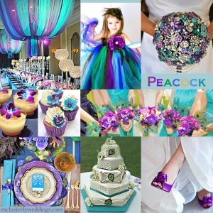 Peacock Wedding Colors - Click to Enlarge