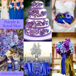 Purple and Blue Wedding Colors