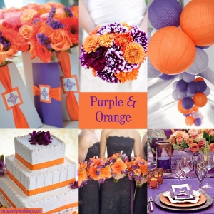 Purple and Orange Wedding Colors - Click to Enlarge