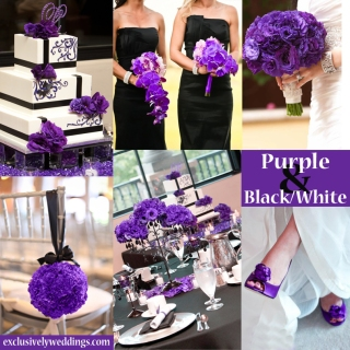 Purple-Black-and-White-Wedding-Colors