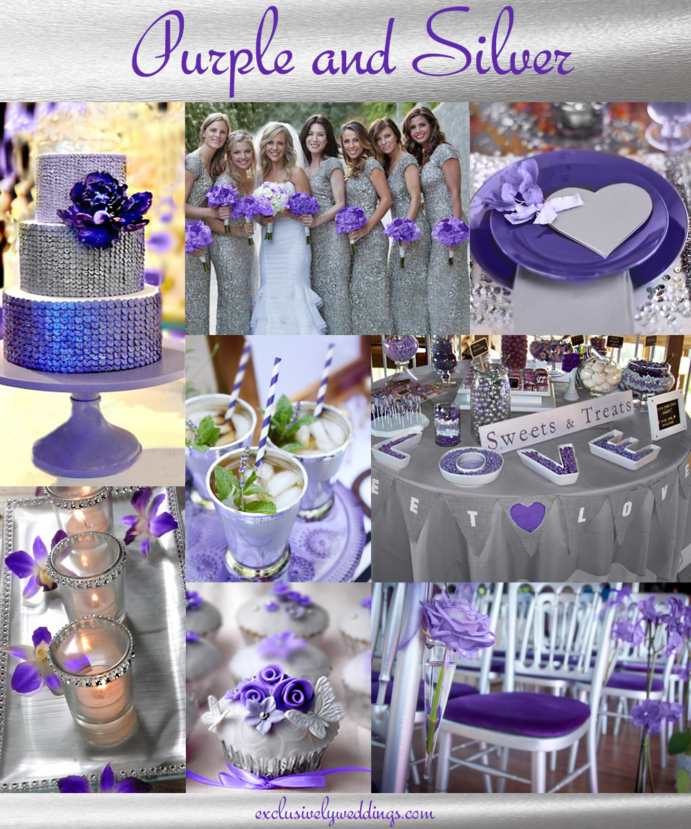 Purple wedding color combination options exclusively weddings purpleandsilverweddingcolors junglespirit