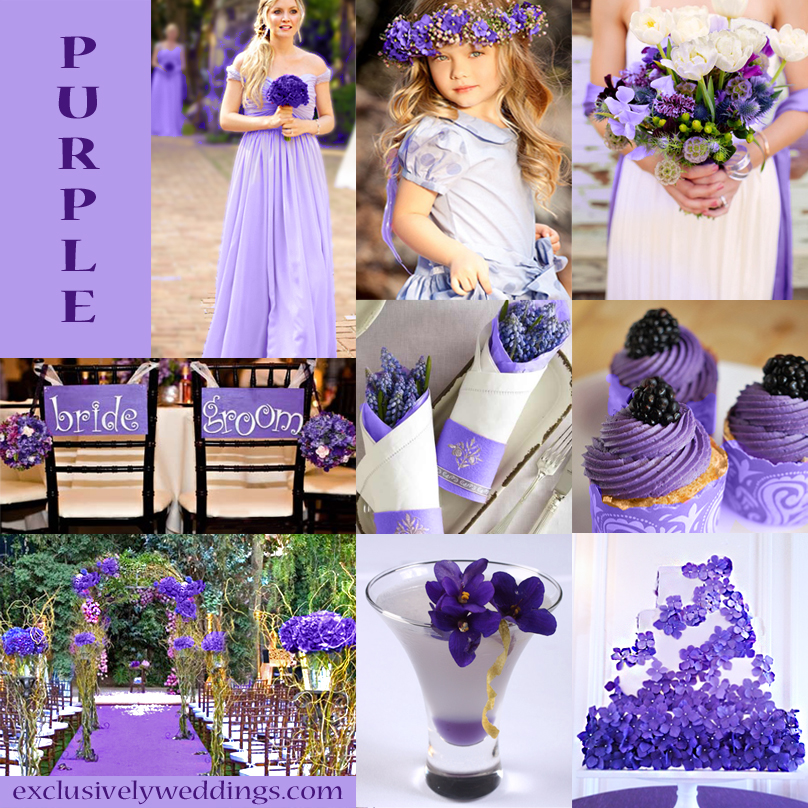 Purple Wedding Color - Combination Options | Exclusively Weddings