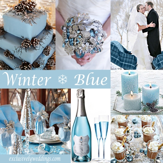 Winter Wedding in Blue