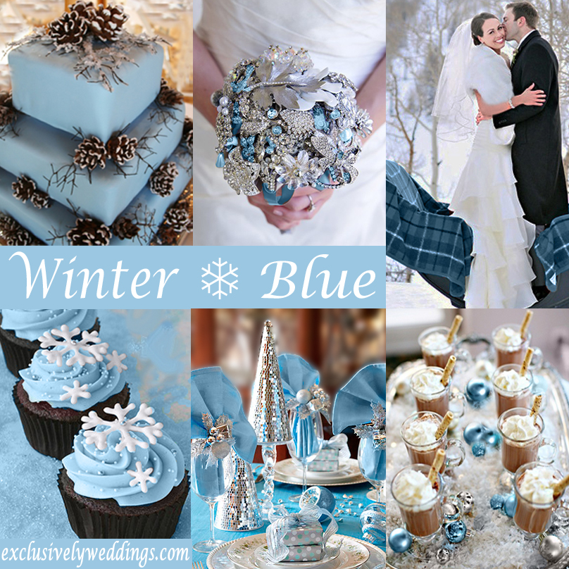 Winter wedding whats your color exclusively weddings winter wedding in blue junglespirit Images