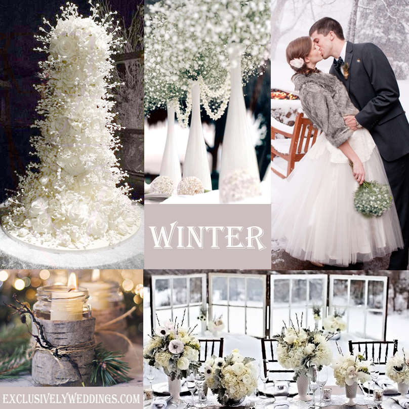 Winter wedding whats your color exclusively weddings winter wedding junglespirit Images