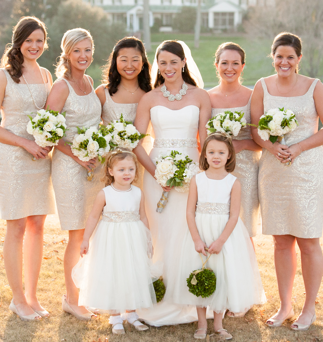 Andrea and chris winter wedding exclusively weddings for Matching wedding and flower girl dresses
