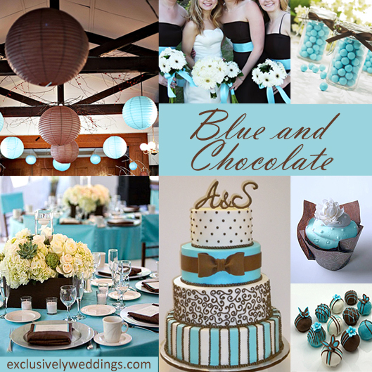 Blue and Chocolate Wedding Colors