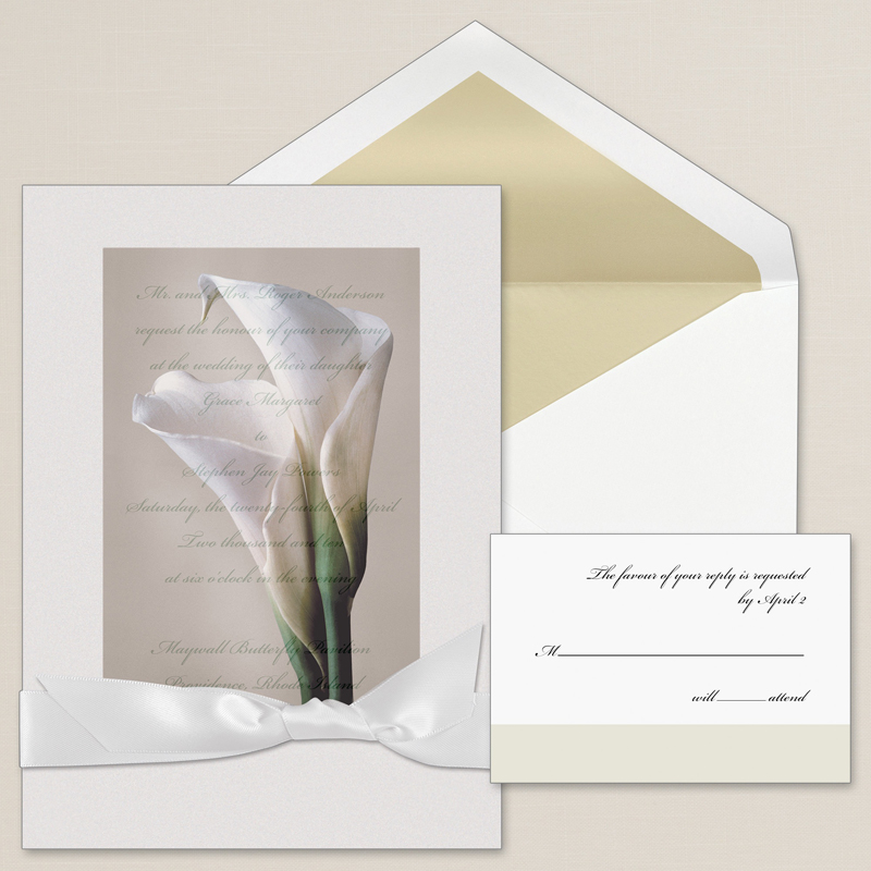 Calla Lily Wedding Invitations is one of our best ideas you might choose for invitation design