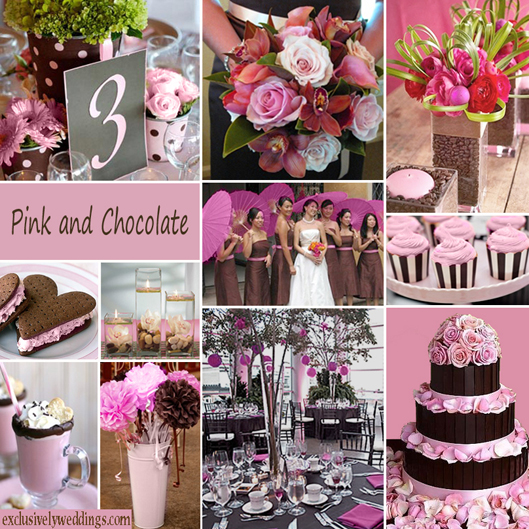 Pink And Brown Wedding Ideas