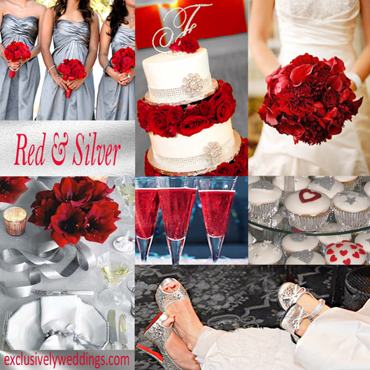 Red and Silver Wedding Colors