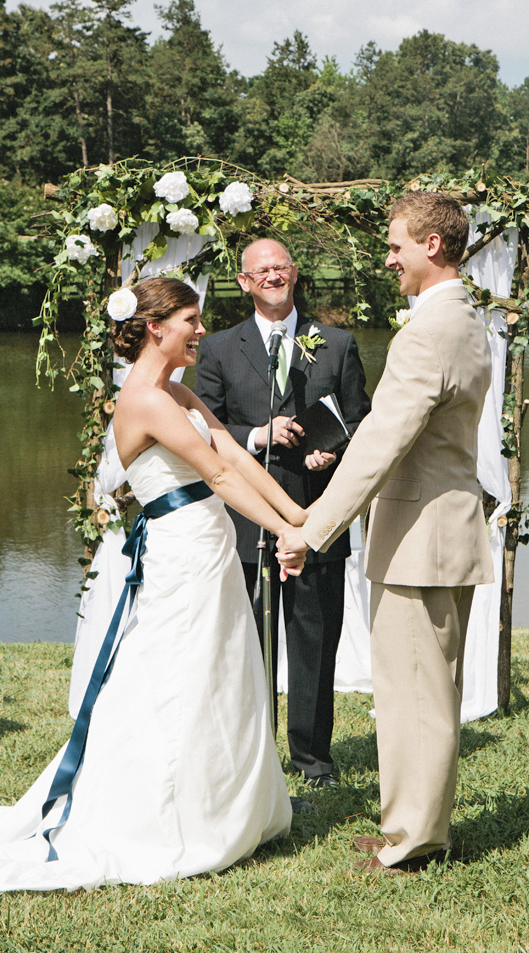 Taylor and Andrew's Rustic Wedding - Happy Smiles