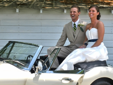 Taylor and Andrew's Rustic Wedding -- Getting Away in Style