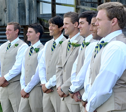Taylor and Andrew's Rustic Wedding - Groomsmen