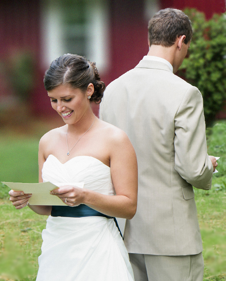 Taylor and Andrew's Rustic Wedding - Reading Love Notes